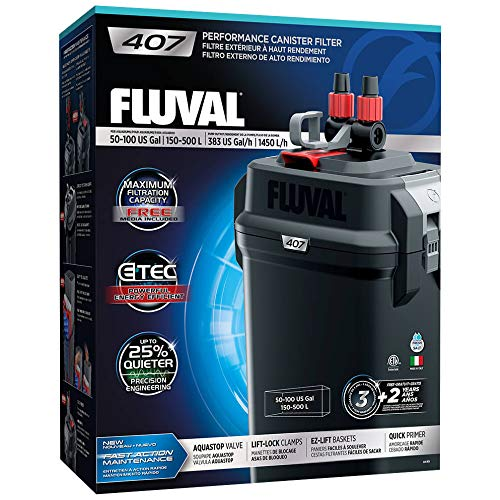 Fluval 407 Performance Canister Filter 120Vac, 60Hz, 10.8 LB
