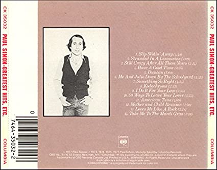Paul Simon Greatest Hits Etc