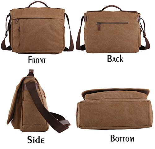 Business 17 Mens Groß Inch Men Messenger by Canvas Bag Women Laptop Work Bag Crossbody Bags Bags Bag Schwarz Niceeday Shoulder Shoulder Travel Bag Sport 14 Bag wvxwUq6