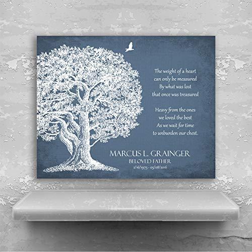 Memorial Plaque In Loving Memory Poem Oak Tree Sympathy Gift For Family Custom Art Print #1329 Metal Print ()