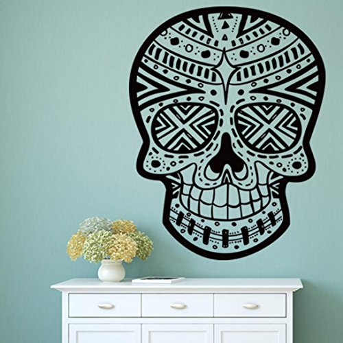 Oksale® Halloween Skeleton Skull Wall Stickers, 22.8 × 29.5 Inch, Background Bedroom Living Room Home Art Vinyl Removable Applique Papers Mural Decor (Halloween Skulls Background)