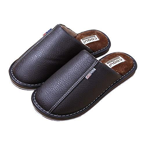 In Femminile Pantofole Impermeabile Antiscivolo Wasdx Pelle Casa Cotone Pu Inverno Di Marrone Caldo Nuove PUBxZqSf