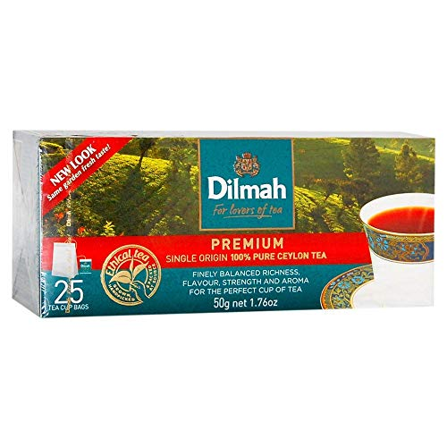 Dilmah Premium 100% pure CEYLON black Tea BOPF 50g/100g/200g free delivery single origin tea (50g/1.76oz – 25 tea cup…