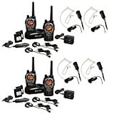 Midland 3 2-Way Radio Value Pack with 2 Midland Transparent Security Headsets