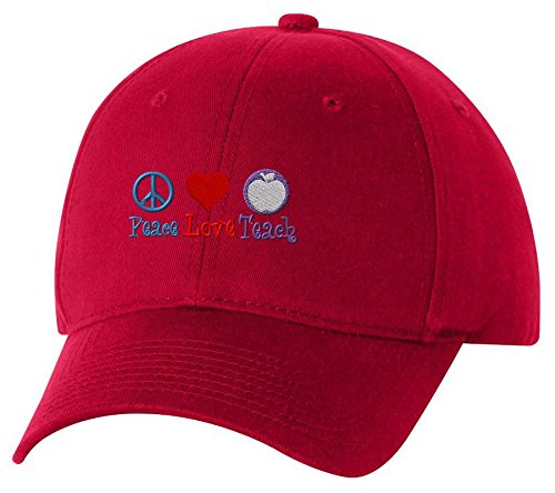 Unlimited Embroidery Peace Love Peace Custom Embroidery Embroidered Baseball Hat Cap
