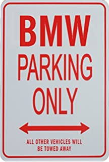 Amazoncom BMW Parking Only Large Embossed Metal Sign X - Bmw parking only signs