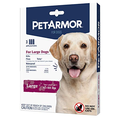 PetArmor for Dogs, Flea and Tick Treatment for Large Dogs (45-88 Pounds), Includes 3 Month Supply of Topical Flea Treatments