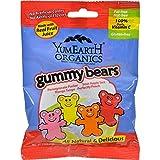 Yummy Earth Organic Gummy Bears - Case of 12-2.5 oz