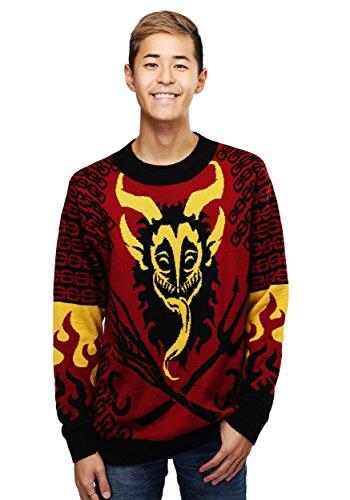 FunCostumes Men's Krampus Ugly Christmas Sweater - XL