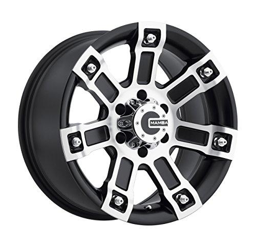 Mamba M1X Matte Black Wheel with Machined Finish (17x8