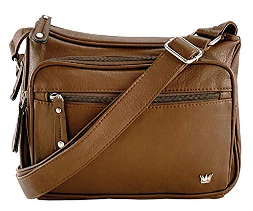 Purse King Magnum Concealed Carry Handbag (Dark Brown)