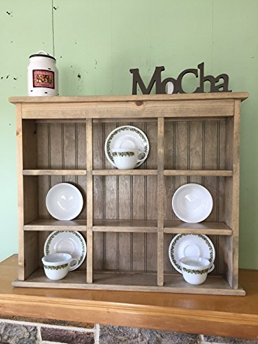 Tea Cup and Saucer Plate Rack and Kitchen Display Shelf 9 Section Holder -