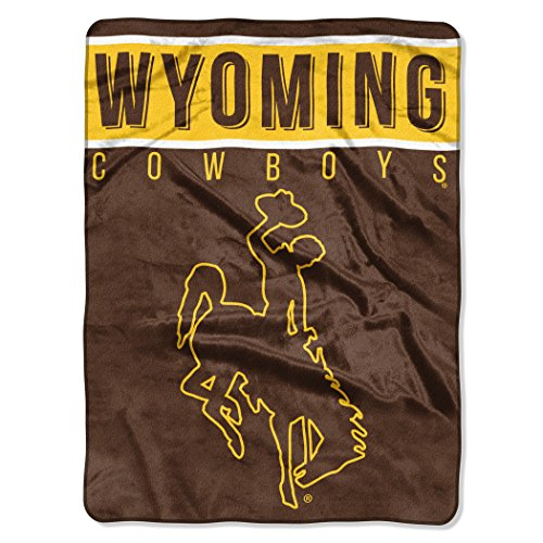 The Northwest Company Officially Licensed NCAA Wyoming Cowboys Basic Plush Raschel Throw Blanket, 60