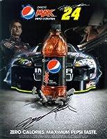 AUTOGRAPHED 2011 Jeff Gordon #24 Pepsi Max Racing (Hendrick Motorsports) Signed NASCAR 9X11 Photo Hero Card with COA by Trackside Autographs