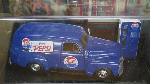 [Road Champs 1954 Pepsi-Cola Chevrolet Panel Van Limited Edition] (Chevrolet Panel Truck)