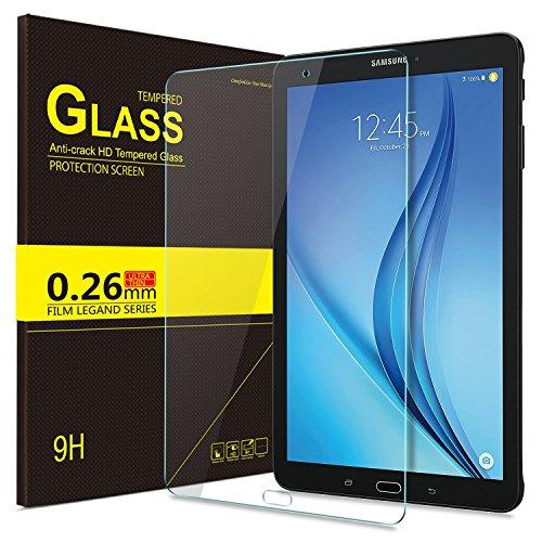 KuGi Samsung Galaxy Tab E 9.6 screen protector- Ultra-thin 9H Hardness HD clear Premium Tempered Glass Screen Protector for Samsung Galaxy Tab E 9.6 tablet (1 pcs)