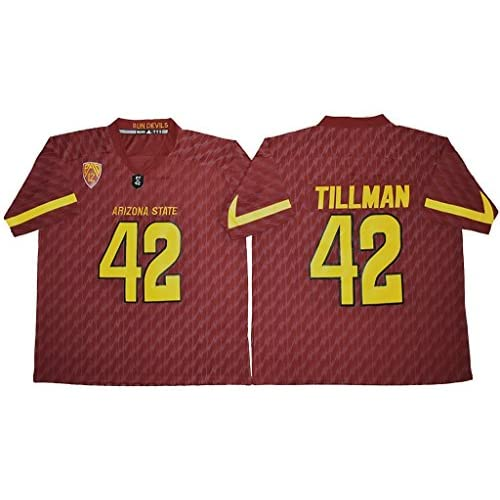 6e89382a8 Men's Arizona State Sun Devils #42 Pat Tillman College Football Jersey Dark  Purple free shipping