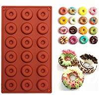 Sungpunet 18-Cavity Donut Doughnut Baking Mold Cake Chocolate Candy Soap Silicone Mould