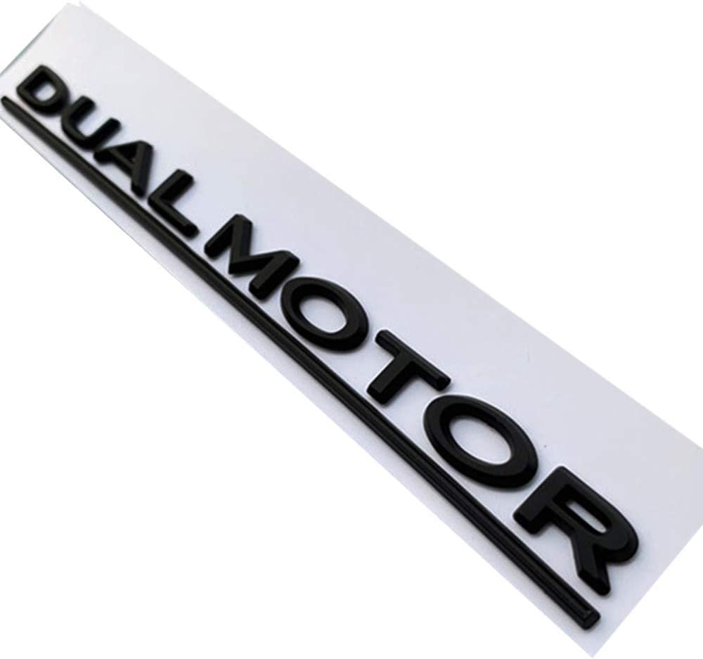 DUAL MOTOR Underlined Letters Emblem for Tesla Model 3 Car Styling Refitting High Performance Trunk Badge Sticker Matte Black