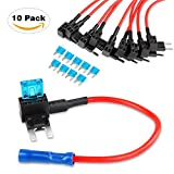 #6: Nilight Fuse Holder Add-a-circuit Fuse TAP Adapter Mini ATM APM Blade Fuse Holder - 10 Pack, 2 years Warranty