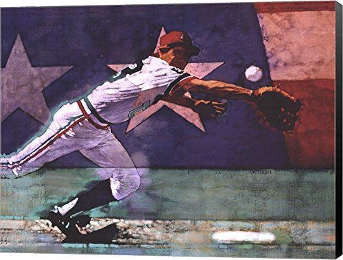 Olympic Baseball by Michael C. Dudash Canvas Art Wall Picture, Museum Wrapped with Black Sides, 26 x 20 -