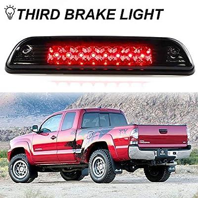 Third Brake Light Fit 1995-2015 Toyota Tacoma Truck Full LED 3rd Brake Stop Tail Lamp (Smoke Lens): Automotive