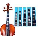 HOT SEAL Violin Finger Guide Sticker Fingerboard Guide Fretboard Marker Label Finger Chart for Practice Beginners (4/4, Black)