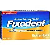 Fixodent Extra Hold Denture Adhesive Powder 2.7 Oz