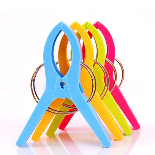 Danmu Colorful Beach Towel Clips for Beach Chair or Pool Loungers (8 Pack) Photo #3