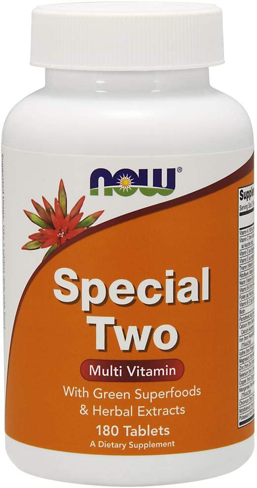NOW Supplements, Special Two with Super Greens Herbal Extracts, 180 Tablets