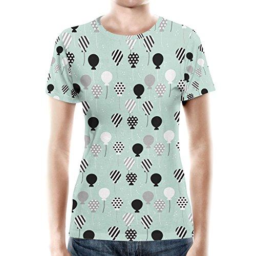 Party Balloons Mint Women Cotton Blend T-Shirt Damen XS-3XL