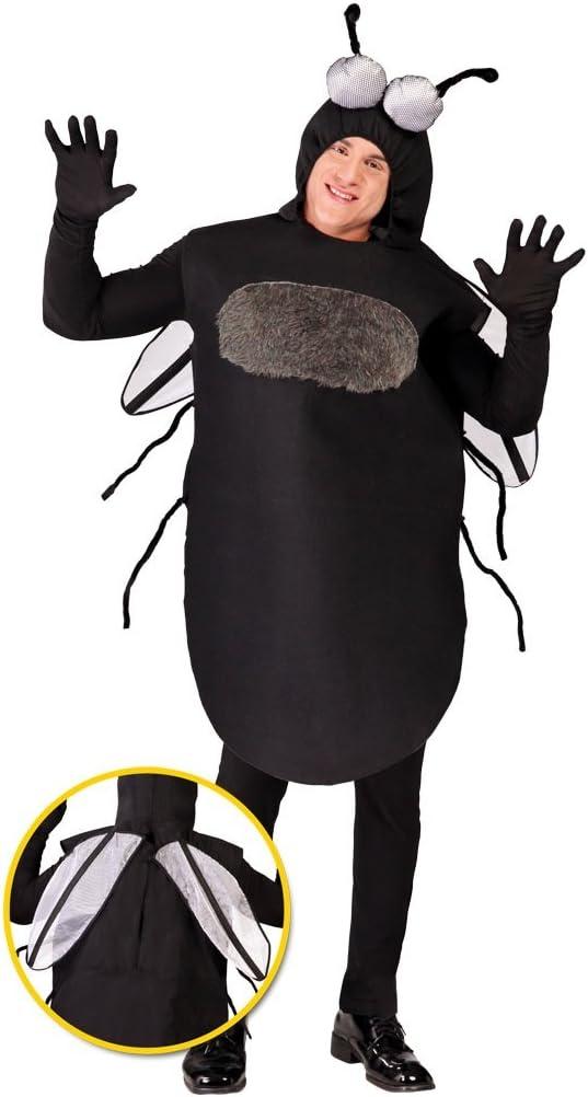 Guirca- Costume da Mosca per Adulti 80668 Nero Taglia Unica