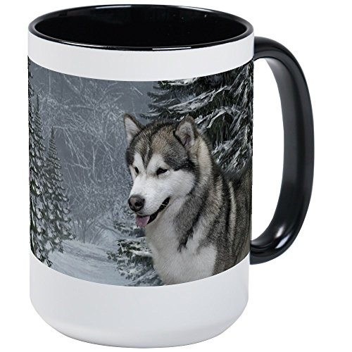 CafePress - Malamute Large Mug - Coffee Mug, Large 15 oz. White Coffee Cup
