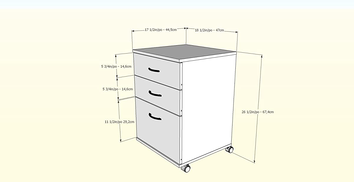 Nexera Essentials 3-Drawer Mobile Filing Cabinet 41092 from, American Beech