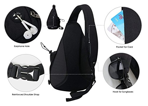 33345dae5 WATERFLY Sling Backpack Sling Bag Small Crossbody Daypack Casual Backpack  Chest Bag Rucksack for Men &