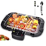 Electric Grill Teppan Grill Machine, BBQ Function, rotisserie, Free Grill Brush and Meat