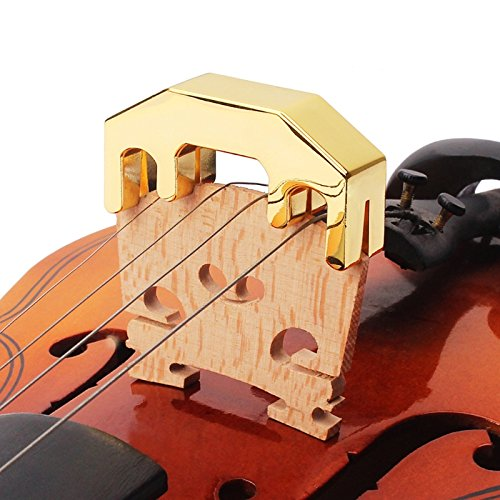 Strings Electric Bass Silencers (Aimartz(TM) New Professional Violin Practice Mute Metal Fiddle Silent Silencer Parts)