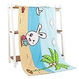 Women's Girls Bath Towel Wrap - Microfiber Outdoor Beach Towel - Luxury Hotel Shower Spa Bath Towels 55'' x 27.5''(Rabbit)