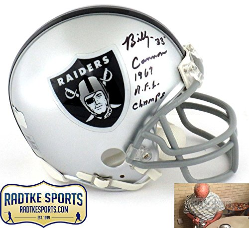 """Billy Cannon Autographed/Signed Oakland Raiders Riddell NFL Mini Helmet with """"1967 AFL Champs"""" Inscription"""
