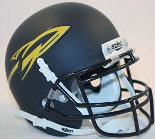(TOLEDO ROCKETS NCAA Schutt XP Authentic MINI Football Helmet (MATTE NAVY BLUE))