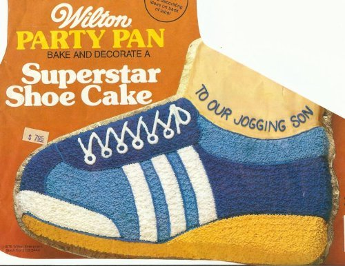 Wilton Superstar Running Tennis Golf Basketball Skate Rollerblade Hiking Boot Shoe Cake Pan (502-1964, 1979) Retired