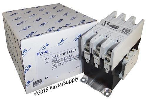 Eaton / Cutler Hammer C25HNE3120A Contactor , 3-Pole , 120 Amp , 120 VAC Coil ()