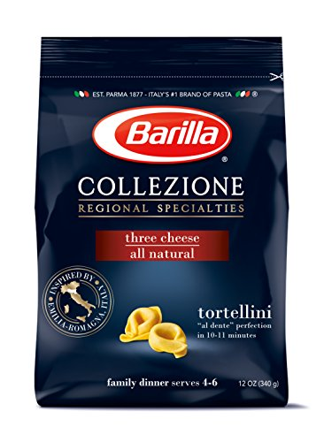 Barilla Collezione Pasta, Three Cheese Tortellini, 12 Ounce (Pack of 4) (Pasta Dried)
