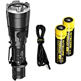 NiteCore MH27UV Bundle of USB Rechargeable 1000 Lumen LED Flashlight w/ Red, Blue, and UltraViolet Lights plus 2x Nitecore brand 18650 Batteries