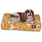 Yellow Plantation Small Rectangle Indoor Outdoor Pet Dog Bed With Removable Washable Cover By Majestic Pet Products For Sale