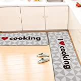 SHACOS Kitchen Rugs and Mats Set of 2 Kitchen Floor