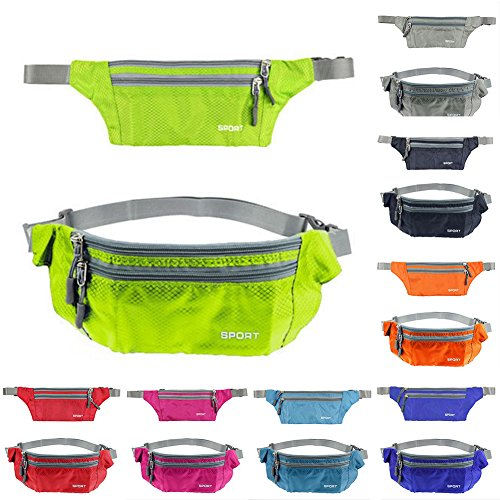 Colorido Ultra-light Anti-theft Travel Portable Sport Running Waist Bag Phone Holder size Medium (Rose Red) by Colorido (Image #1)