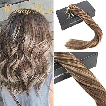 Amazon Com Sunny 16 Hair Extension Tape In Ombre Dark Brown 4