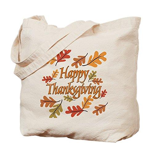 CafePress–diseño de happy de Acción de Gracias Natural gamuza de bolsa de lona bolsa, bolsa de la compra