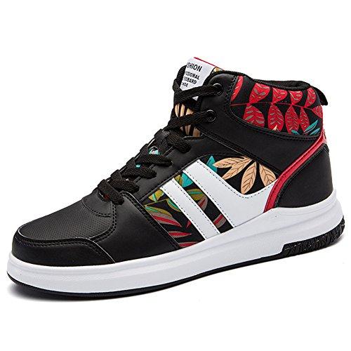9e52a46c3d ROSEUNION Herren Mode High Top Leder Street Sneaker Trainer Schnüren  Breathable Sport Freizeit Schuhe mit Klettverschluss